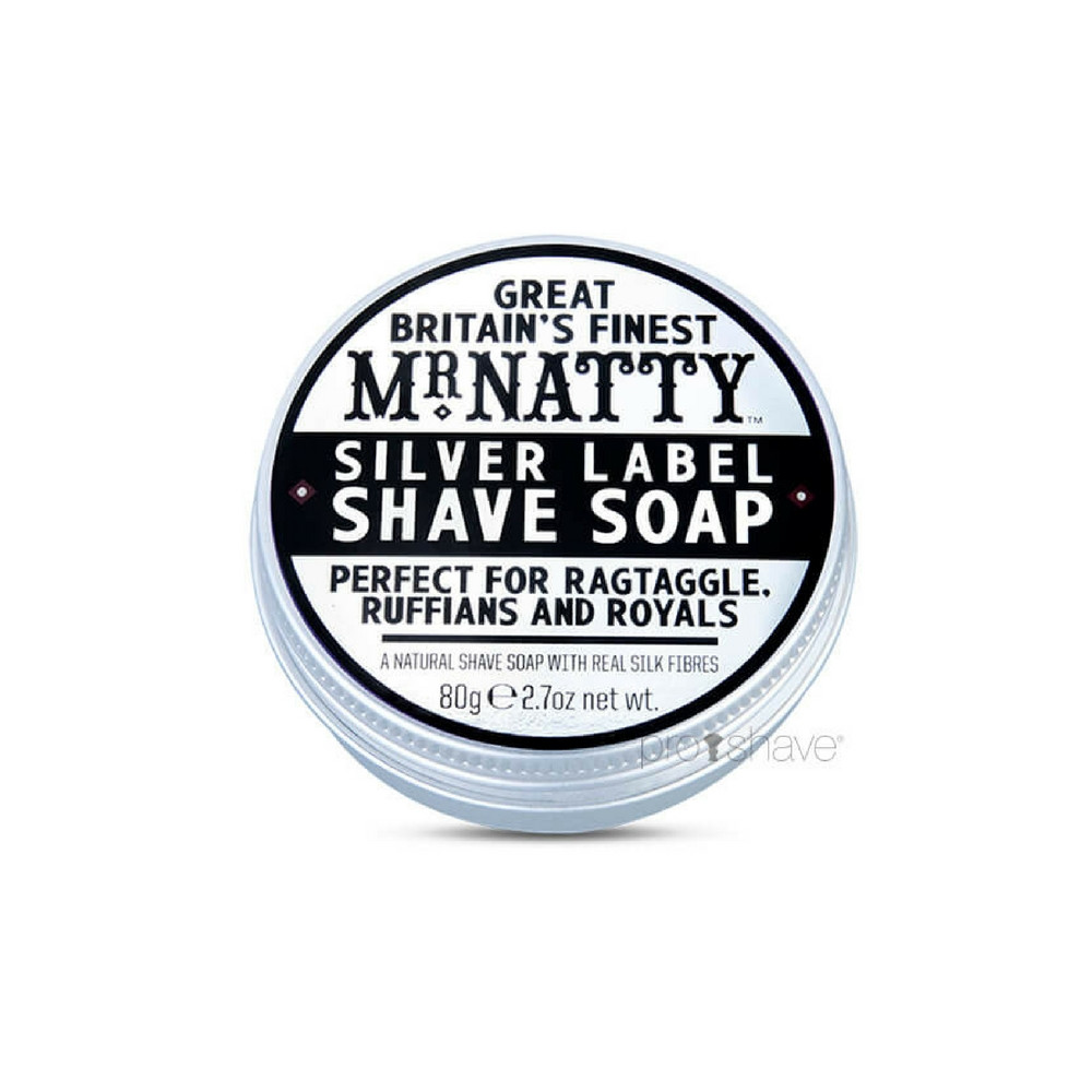 Image of   Mr Natty Silver Label Shave Soap, 80 gr.