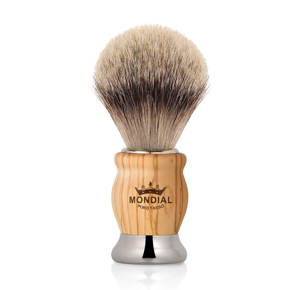 Image of   Mondial Silvertip Badger Barberkost, Oliver, Oliventræ
