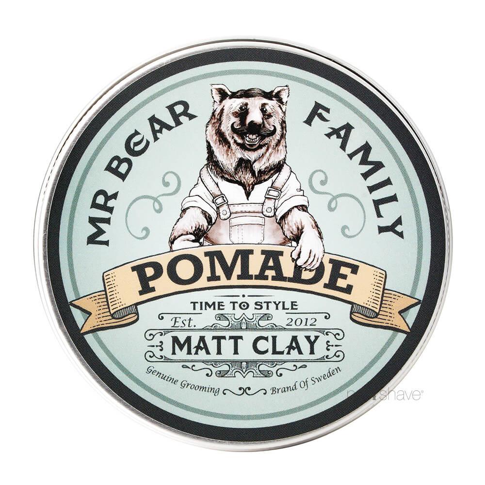 Image of   Mr. Bear Pomade - Matt Clay, 100 ml.