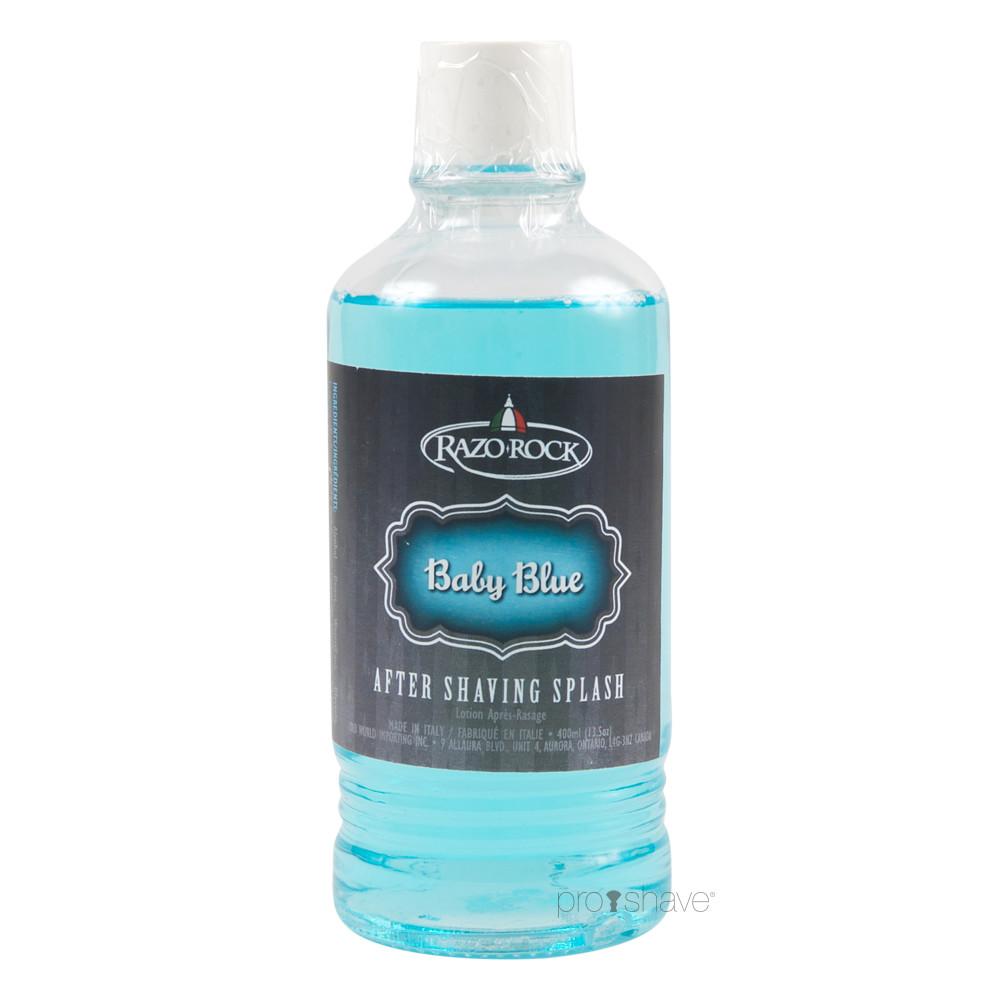 Image of   RazoRock Baby Blue Aftershave Splash, 400 ml.