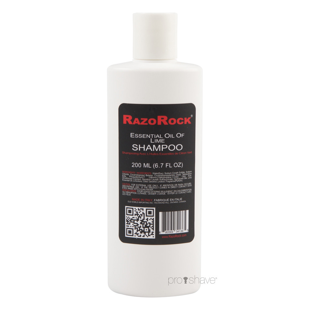 Image of   RazoRock Luksus Shampoo, Lime, 200 ml.