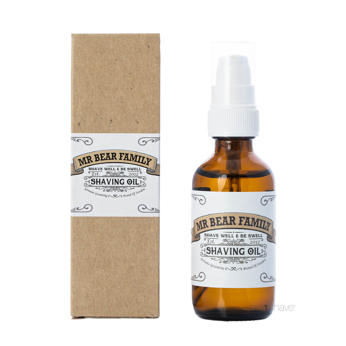 Mr. Bear Shave Oil, 60 ml. med pumpe
