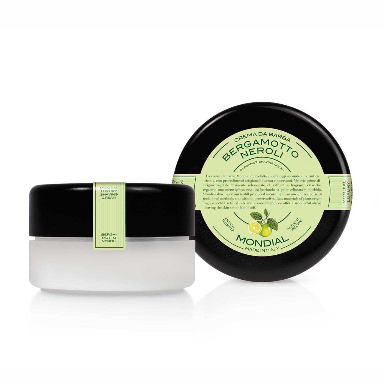 Image of   Mondial Shaving Barbercreme i plasticskål, Bergamot Neroli, 150 ml.