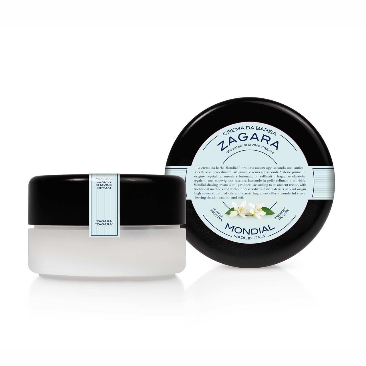 Image of   Mondial Shaving Barbercreme i plasticskål, Zagara, 150 ml.