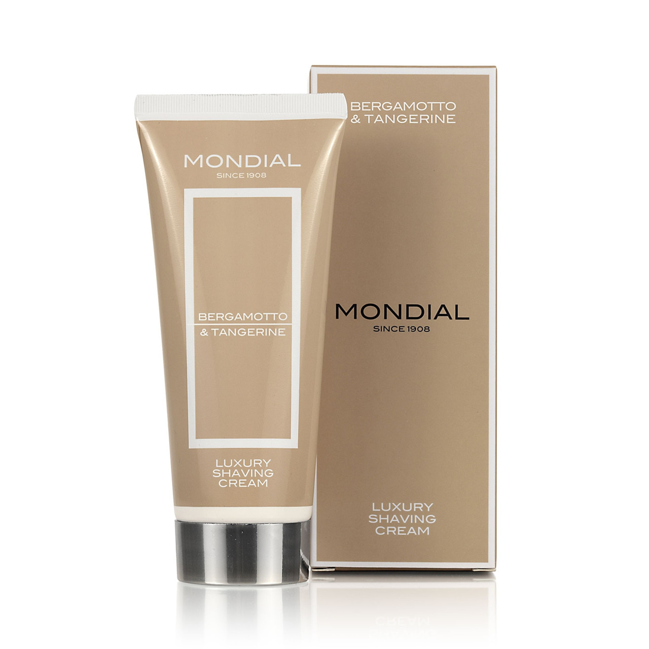 Image of   Mondial Shaving Barbercreme på tube, Bergamot & Tangerine, 75 ml.