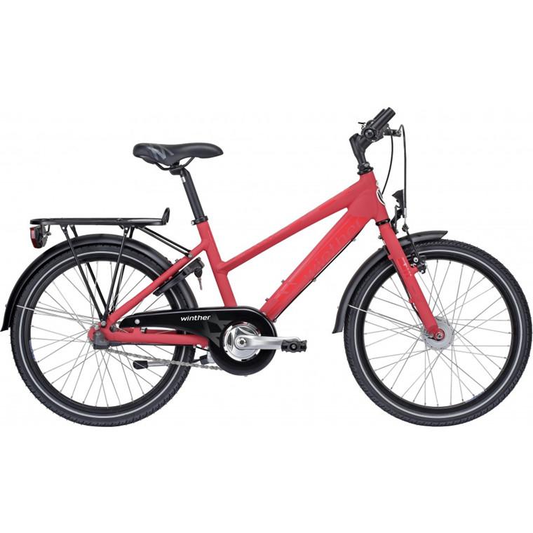 "Winther 350 Dirt - 20"", 24"" - Sandblast rød pigecykel - 2015"