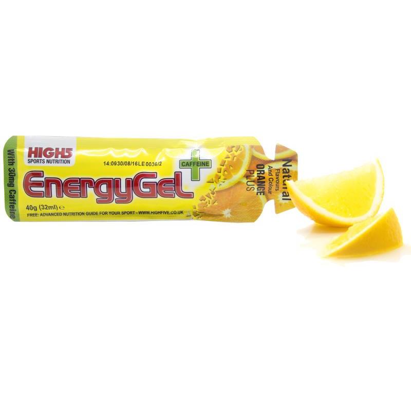 High5 Energygel - 20 Stk (Appelsin M. Koffein)