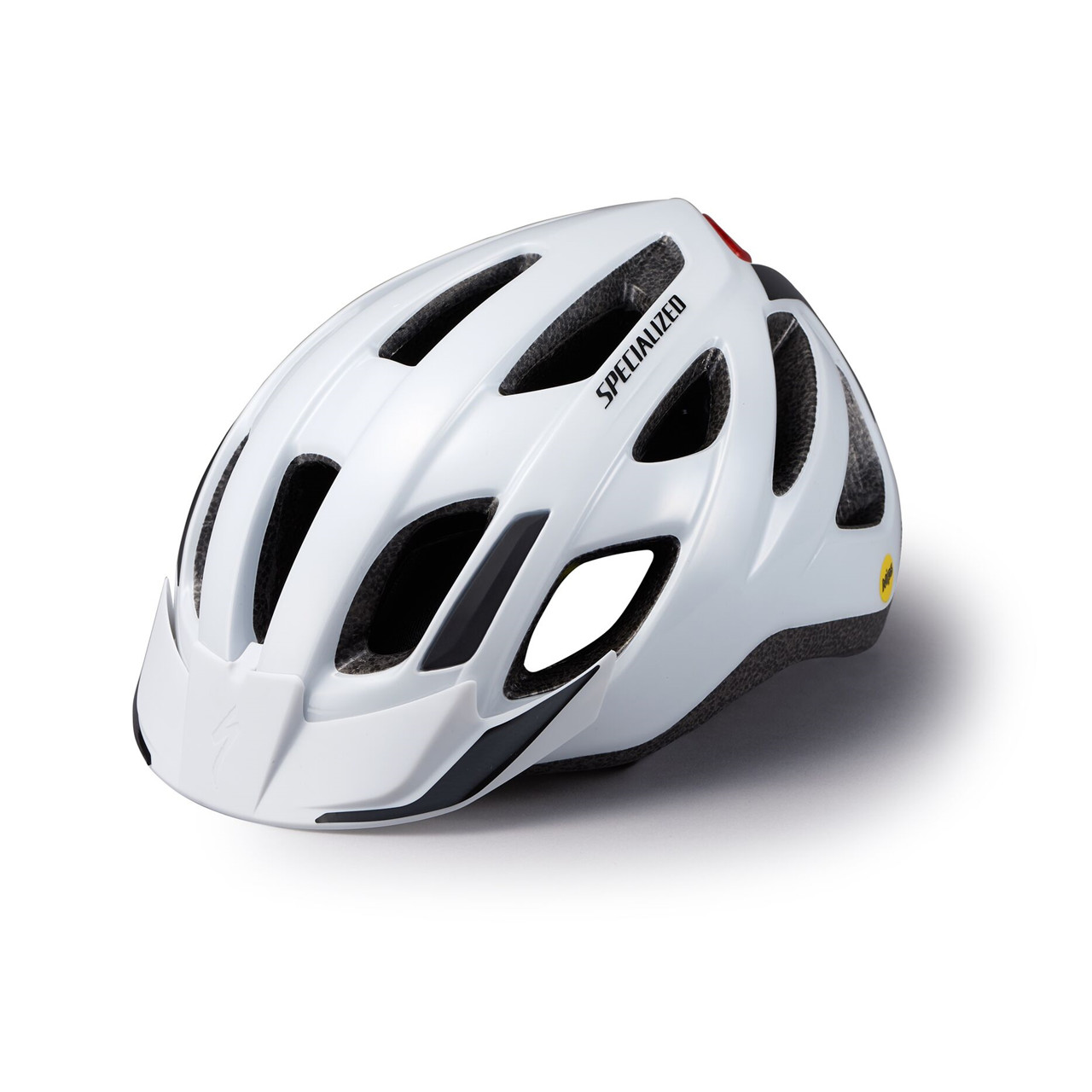 Specialized Centro Led Mips - Cykelhjelm Med Lys (Gloss White, Adult)