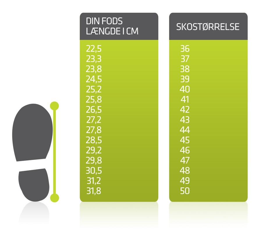 sko størrelse 8
