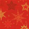 SERVIET 3-LAGS 33X33 CM STAR STORIES RED 500 STK.