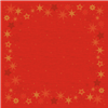STIKDUG DUNISILK 84X84 CM STAR STORIES RED 100 STK.