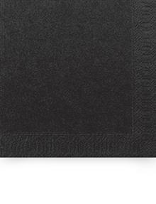 SERVIET 2-LAGS 33X33 CM SORT 2000 STK.