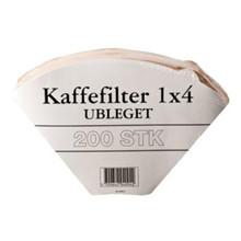 KAFFEFILTER 1X4 UBLEGET 12X200 STK.