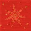 SERVIET 3-LAGS 24X24 CM STAR STORIES RED 1000 STK.