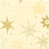 SERVIET 3-LAGS 40X40 CM STAR STORIES BUTTERMILK 1000 STK.