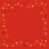 STIKDUG DUNICEL 84X84 CM STAR STORIES RED 100 STK.
