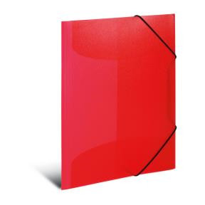 Elasticated folder A3 PP red