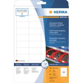 HERMA Labels weather-resistant removable A4 white 48,3x25,4