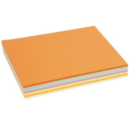Pastel karton, A4 210x297 mm, 160 g, pastelfarver, 210ass. ark