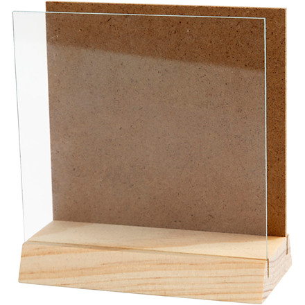 3D plade med glas 10 x 10 cm | fyr
