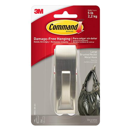 3M Command Modern Reflections stor metalkrog i børstet nikkel M