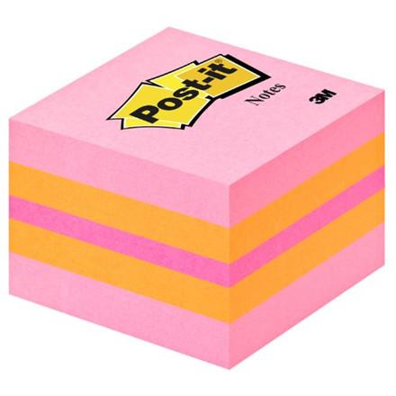 Post-it Notes pink - Mini kubusblok 51 x 51 mm