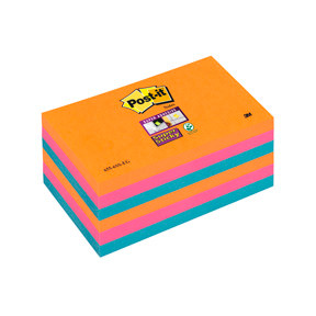 3M Post-it 6556SSEG Super Sticky Notes 76x127 Electric Glow (6)