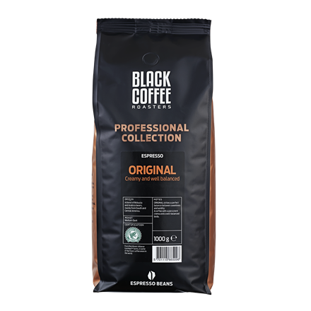 Black Coffee Roasters Original Rainforest Alliance Espresso - 1 kg hele kaffebønner