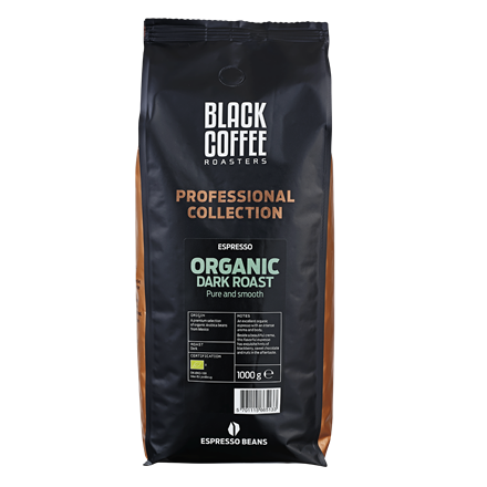 Black Coffee Roasters Organic Dark Espresso - 1 kg. hele espressobønner