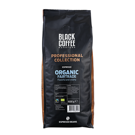Black Coffee Roasters Organic Fairtrade Espresso - 1 kg helbønner