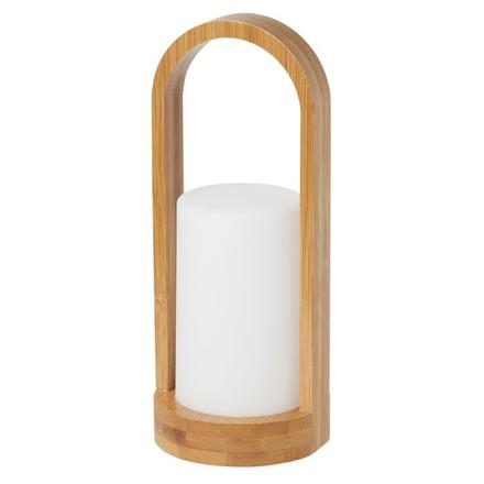 LED lampe, Duni Bamboo, hvid, bambus - leveres uden lys