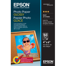 Epson - Foto papir Glossy 10 x 15 cm - 50 ark