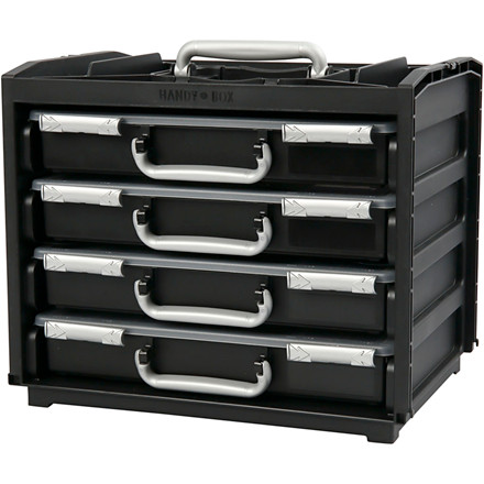Handybox m. multicases, LxBxH 37,6x26,5x31 cm, 1sæt