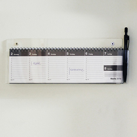 Vægstativ klar akryl 31 x 19 cm til Mayland kalender - 3667 00