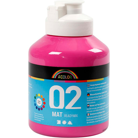 Akrylmaling A-Color, pink, 02 - mat (plakatfarve), 500ml