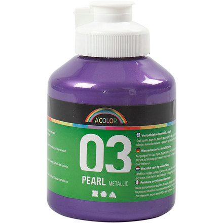 Akrylmaling A-Color, violet, 03 - metallic, 500ml