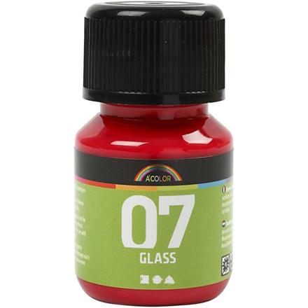 A-Color rød glas maling - 30 ml