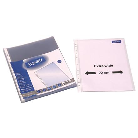 A4+ Plastiklommer - Bantex 100 my med præget overflade - 50 stk i æske