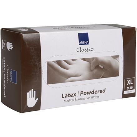 Abena Classic Latex Engangshandske - Let pudret, - X-Large,