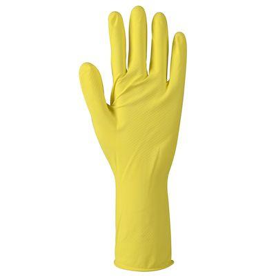 Abena Latex Rengøringshandske Gul - Indvendig velourisering - Størrelse XL