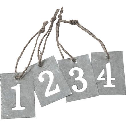 Adventstal størrelse 4 x 2,7 cm - 4 stk