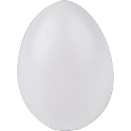 Æg, H: 4 cm, hulstr. 2 mm, hvid, plast, 20stk.