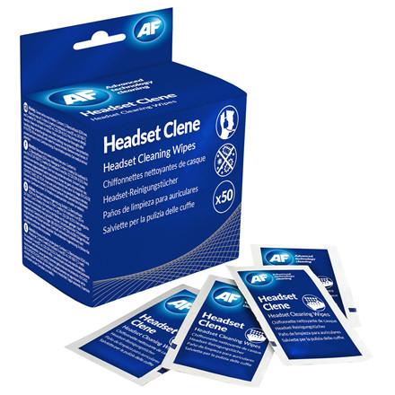 AF Headset Clene - Rense Servietter til Headset  - 50 stk
