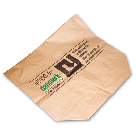 Brun Papir Affaldssæk 110 Liter 700 x 950 x 250 mm - 2-lags vådstærk - 1 stk