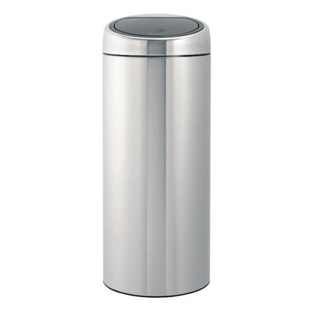 Affaldsspand, Brabantia Touch bin, 30 l, stål mat *Denne vare tages ikke retur*