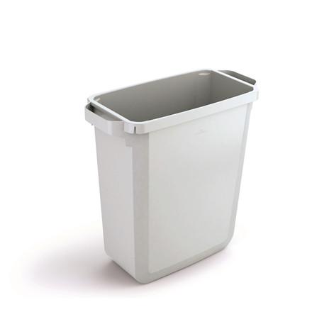 Durabin 60 Hvid Skraldespand 60 liter - Firkantet spand