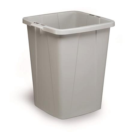Durabin 90 Grå Affaldsspand 90 liter - Firkantet spand