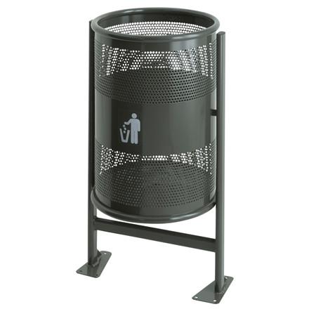 Affaldsspand, graphite, 60 l