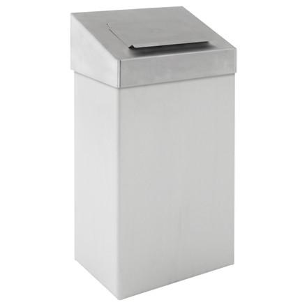 Affaldsspand, klar til vægophæng. Låget skjuler affaldet, hvid, 18 l