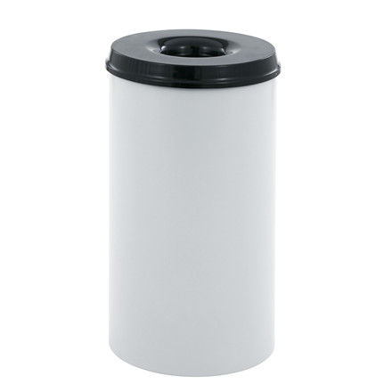 Affaldsspand, selvslukkende, aluminium og sort, 110 l